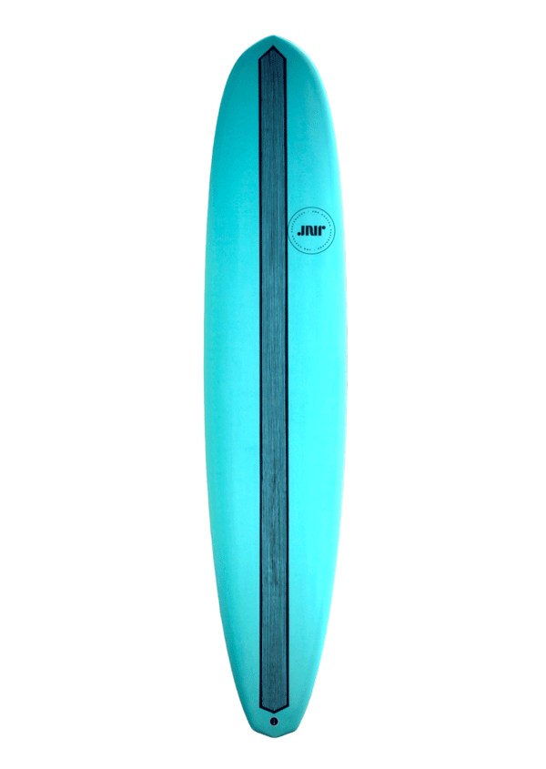 Longboard, Single Fin, Turquoise with carbon reinforcement, 9'2ft