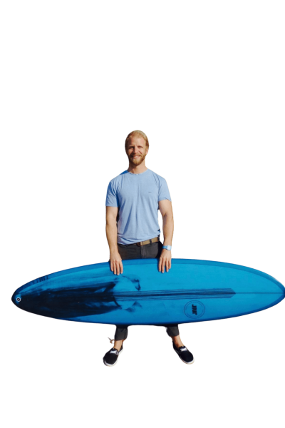 Testimonial Matt from Ireland about the midlength surfboard Junior shaped for him